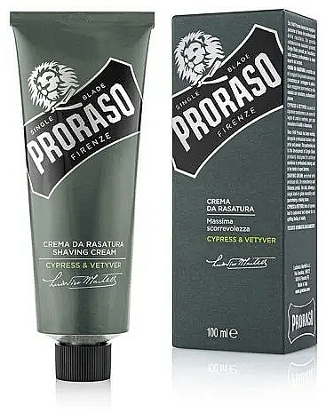 Crema da barba - Proraso Cypress & Vetyver Shaving Cream