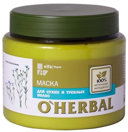Maschera per capelli secchi, con estratto di lino - O'Herbal