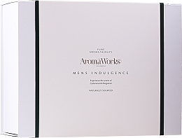 Profumi e cosmetici Set - AromaWorks Men's Indulgence Gift Set (b/wash/300ml + aft/lotion/100ml + candle + flannel)