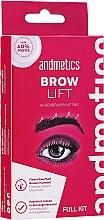 Profumi e cosmetici Set - Andmetics Brow Lift Kit (eyebrow/glue/7ml + eyebrow/perm lotion/5ml + eyebrow/fixation lotion/5ml + eyebrow brush/1pc)