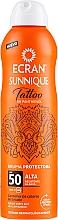 Profumi e cosmetici Spray doposole - Ecran Sunnique Tattoo Protective Mist SPF50