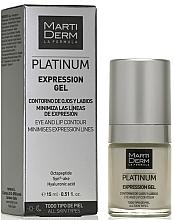 Profumi e cosmetici Gel contorno occhi e labbra - MartiDerm Platinum Expression Gel
