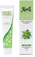Profumi e cosmetici Dentifricio sbiancante al gusto di menta - Keeth Mint-flavoured Whitening Toothpaste