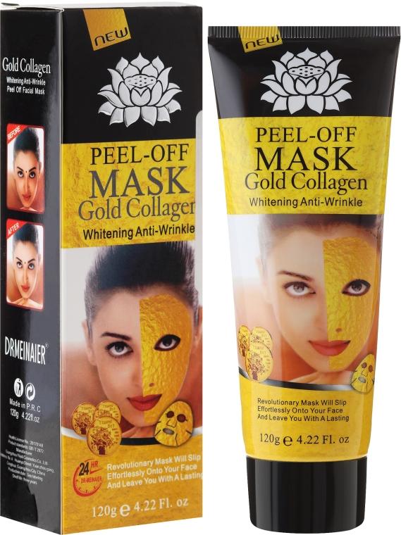 Maschera viso anti-età con oro - Pilaten Anti Aging 24K Gold Collagen Peel Off Face Mask