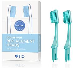 Profumi e cosmetici Testine di ricambio per spazzolino, setole medie, turchese - TIO Toothbrush Medium