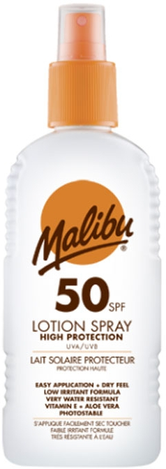 Spray solare corpo - Malibu Sun Lotion Spray High Protection Water Resistant SPF 50 — foto N1