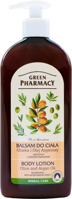 """Lozione corpo """"Argan e olio d'oliva"""" - Green Pharmacy"""