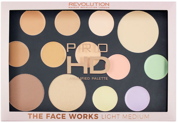 Palette contouring viso - Makeup Revolution Pro HD The Works Palette