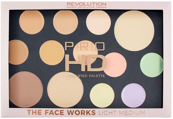 Palette per il contouring del viso - Makeup Revolution Pro HD The Works Palette