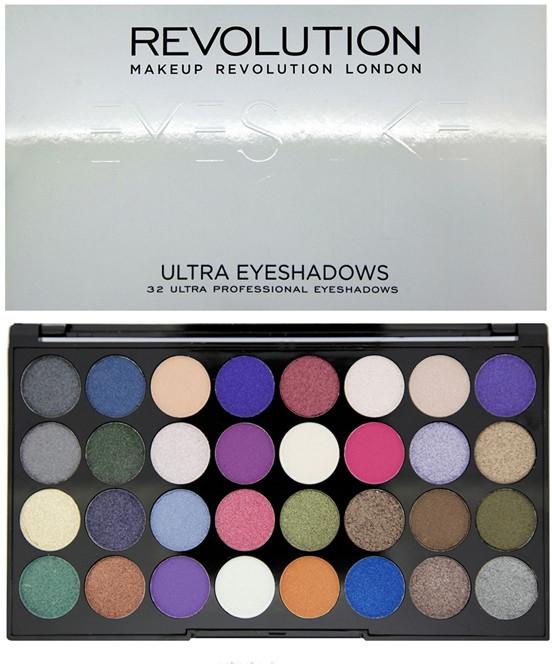 Palette di ombretti, 32 tonalità - Makeup Revolution Ultra 32 Shade Palette Eyes Like Angels — foto N1