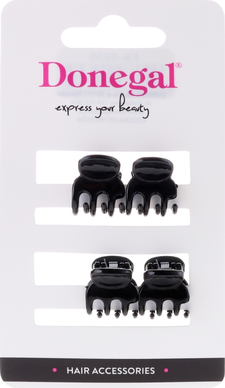 Pinza per capelli FA-9930, mini, colore nero, 4 pz. - Donegal Hair Clip