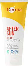 Profumi e cosmetici Lozione doposole all'estratto di aloe - Derma After Sun Lotion Med Aloe Vera