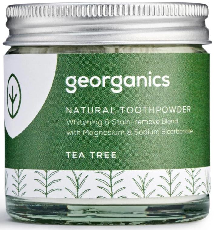 Polvere naturale sbiancante per i denti - Georganics Tea Tree Natural Toothpowder — foto N1