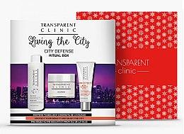 "Profumi e cosmetici Set - Transparent Clinic ""City Defense"" (micelar/water/200ml + f/cream/50ml + sun/cream/75ml)"
