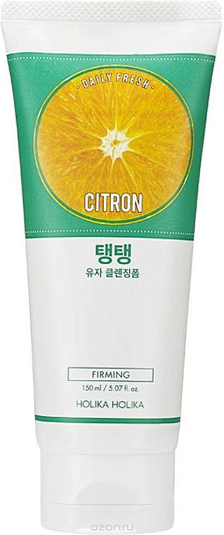 Schiuma detergente morbida per viso, con estratto di agrumi - Holika Holika Daily Fresh Citron Cleansing Foam