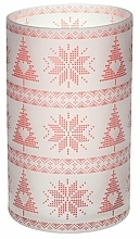 Profumi e cosmetici Candeliere - Yankee Candle Red Nordic Frosted Glass Jar Sleeve