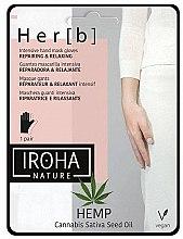 Profumi e cosmetici Maschera per mani - Iroha Nature Cannabis Hand Mask