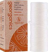 Profumi e cosmetici Filo interdentale, 2x50 m - Georganics Natural Sweet Orange Dental Floss (ricarica)