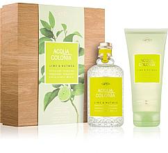 Profumi e cosmetici Maurer & Wirtz 4711 Aqua Colognia Lime & Nutmeg - Set (col 170ml +sh/gel/200ml)
