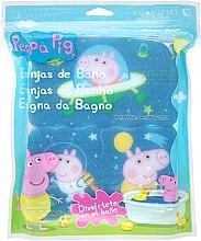 "Profumi e cosmetici Set spugne da bagno ""Peppa Pig"" 3 pezzi, spazio - Suavipiel Peppa Pig Bath Spong"