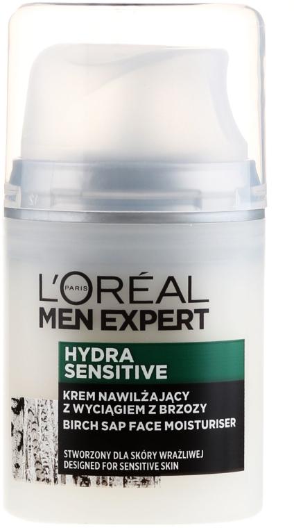 Crema viso idratante con estratto di betulla per pelli sensibili, uomo 25+ - L'Oréal Paris Men Expert Hydra Sensitive 25+
