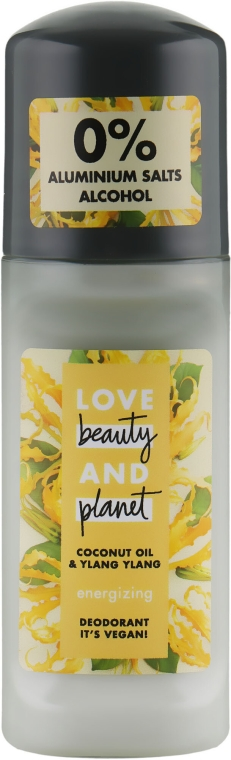 """Deodorante roll-on """"Ylang-Ylang e cocco"""" - Love Beauty&Planet Deodorant Roller Coconut Oil And Ylang Ylang"""