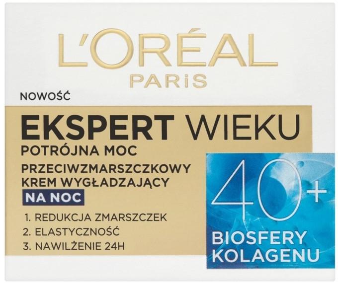 Crema viso da notte - L'Oreal Paris Age Specialist Expert Night Cream 40+