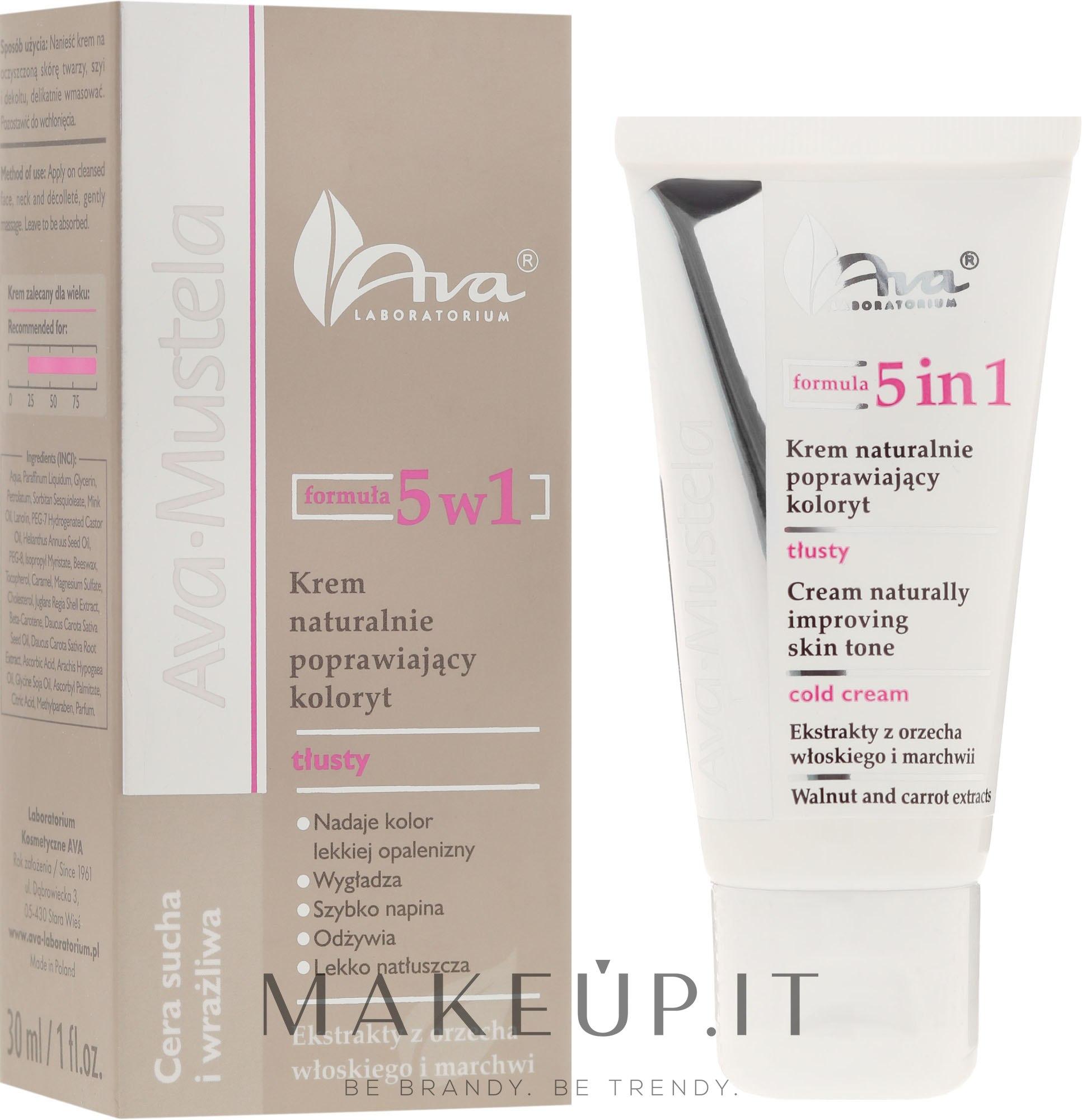 Crema viso illuminante 5in1 - Ava Laboratorium Ava Mustela 5In1 Cream — foto 30 ml