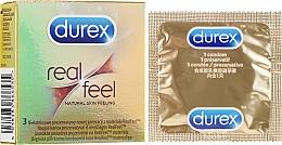 """Profumi e cosmetici Preservativi """"Sensazioni naturali"""", 3 pz - Durex Real Feel"""