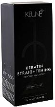 Profumi e cosmetici Sistema curativo di stiratura alla cheratina - Keune Keratin Straightening Rebonding System Strong