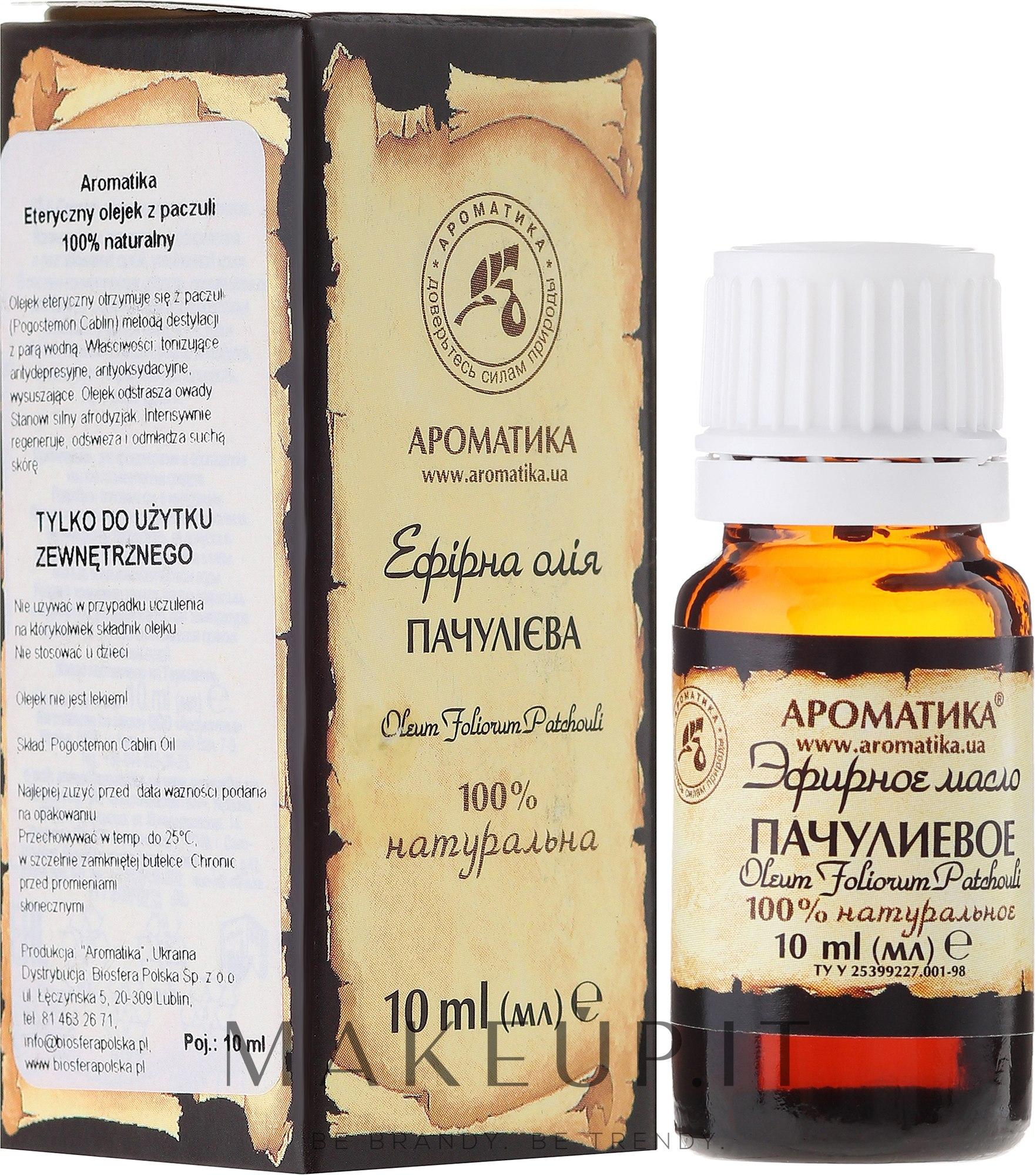 """Olio essenziale """"Patchouli"""" - Aromatika — foto 10 ml"""