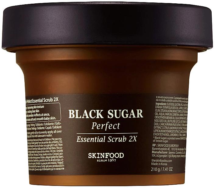 Scrub viso con zucchero nero - SkinFood Black Sugar Perfect Essential Scrub 2X