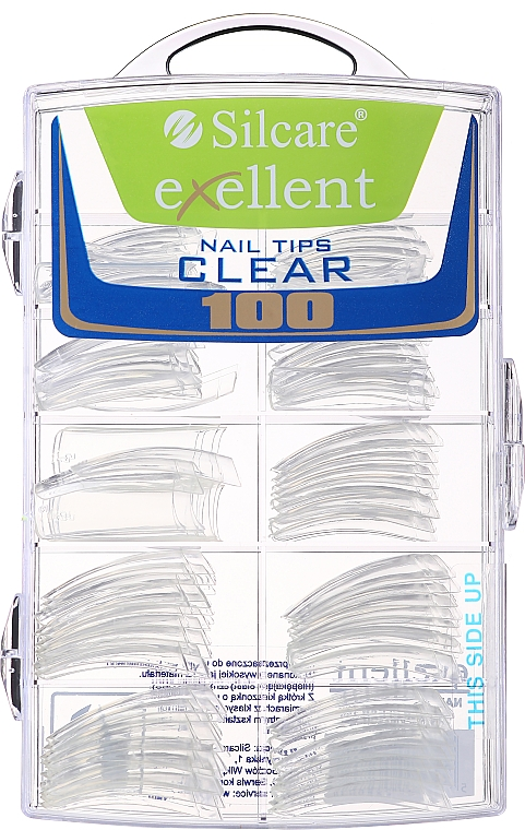 Tips per unghie, k/k - Silcare Tipsy Exellent Clear — foto N1
