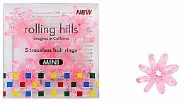 Profumi e cosmetici Elastici per capelli, mini, rosa trasparente - Rolling Hills 5 Traceless Hair Rings Mini Transparent Pink
