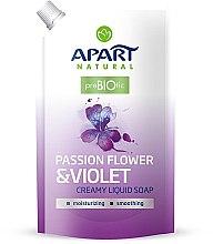 """Profumi e cosmetici Sapone liquido cremoso """"Passiflora e viola"""" - Apart Natural Passion Flower & Violet Soap (doy-pack)"""
