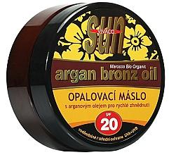 Profumi e cosmetici Olio abbronzante - Vivaco Sun Argan Bronze Oil Tanning Butter SPF 20