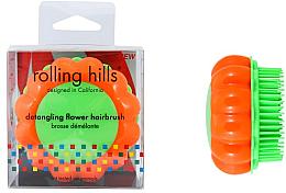 """Profumi e cosmetici Spazzola compatta per capelli """"Camomilla"""", arancio / verde - Rolling Hills Brosse Demelante Flower"""