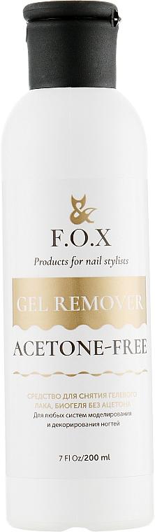 Solvente per smalto gel, bio-gel senza acetone - F.O.X Gel Remover Acetone-Free — foto N1