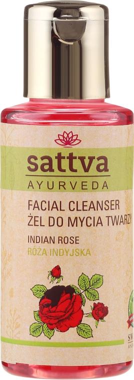 Gel detergente viso - Sattva Facial Cleanser Rose — foto N1
