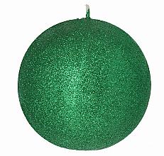 Profumi e cosmetici Candela decorativa, palla, verde, 8 cm - Artman Glamour