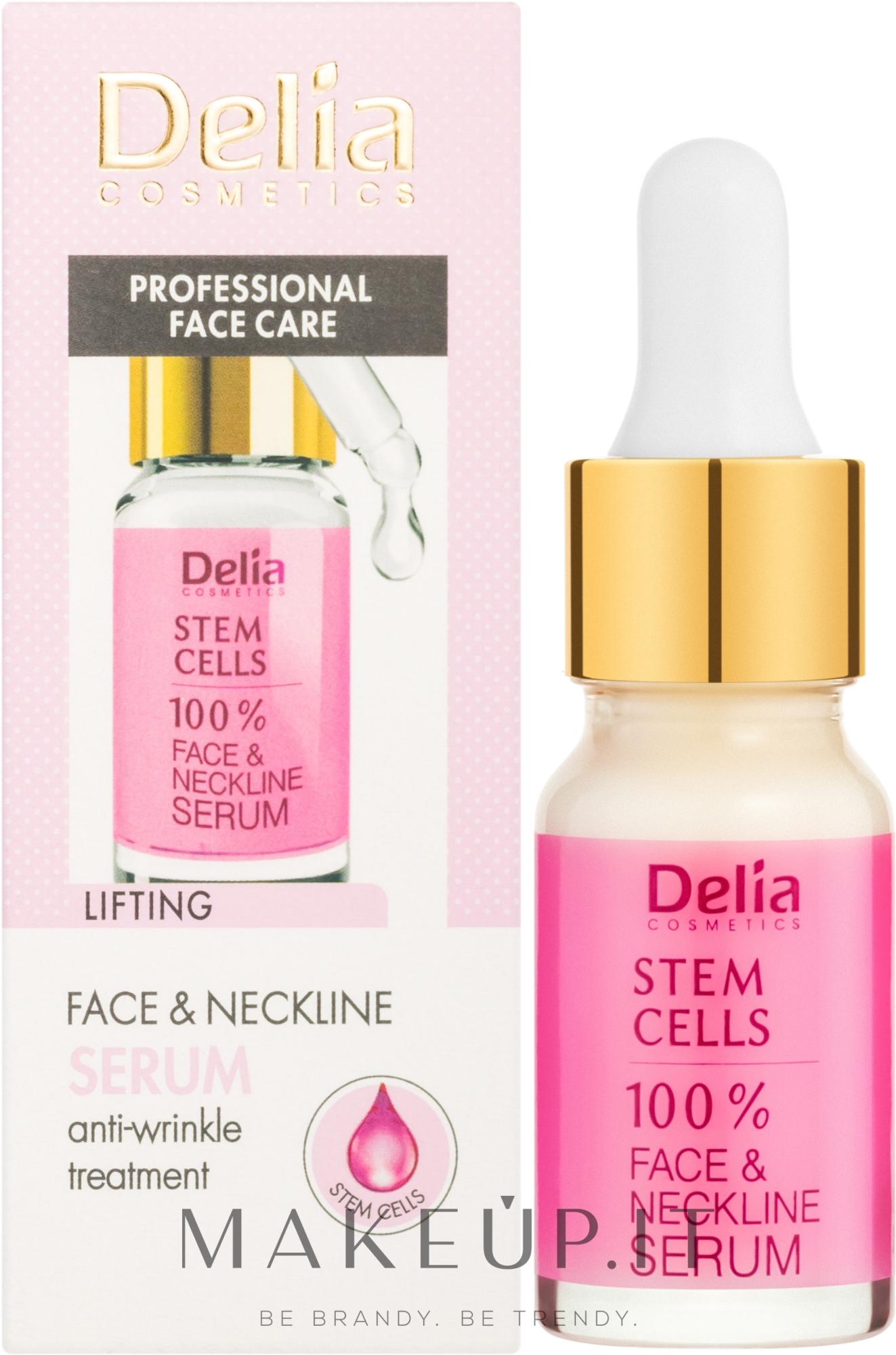 Siero intensivo anti-rughe per viso e collo con cellule staminali - Delia Face Care Stem Sells Face Neckline Intensive Serum — foto 10 ml