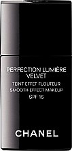Profumi e cosmetici Fondotinta con effetto lucido - Chanel Perfection Lumiere Velvet Smooth-Effect Makeup SPF 15