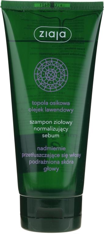 Shampoo sebo-normalizzante a base di erbe il rilascio di sebo - Ziaja Shampoo