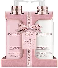 Profumi e cosmetici Set - Baylis & Harding Jojoba, Vanilla & Almond Oil (h/wash/300ml + h/b/lot/300ml)