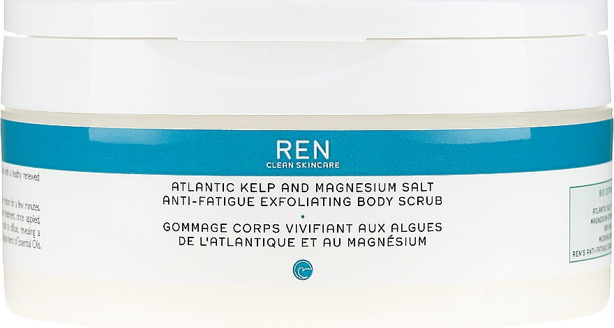 Scrub corpo salino - Ren Atlantic Kelp And Magnesium Salt Anti-Fatigue Exfoliating Body Scrub — foto N1
