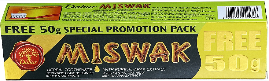 Dentifricio a base di Siwāk - Dabur Miswak