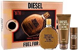 Profumi e cosmetici Diesel Fuel for Life Homme - Set (edt/75ml + sh/gel/100ml + sh/gel/50ml)