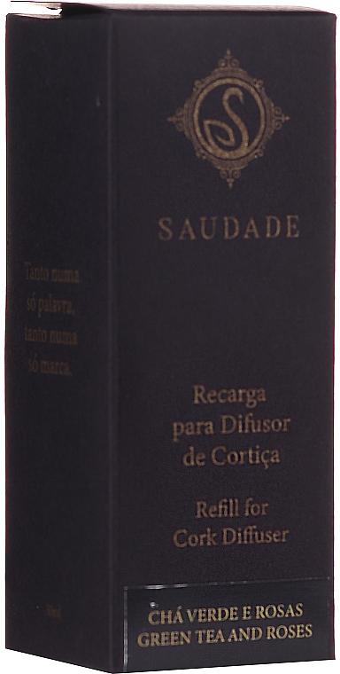 "Olio aromatico ""Tè verde e rose"" - Essencias De Portugal Saudade Refill For Cork Diffuser Green Tea And Roses (ricarica) — foto N1"