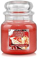 Profumi e cosmetici Candela profumata in vetro - Country Candle Candy Cane Cheesecake