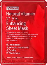 Profumi e cosmetici Maschera viso in tessuto antiossidante vitaminica - By Wishtrend Natural Vitamin 21.5% Enhancing Sheet Mask